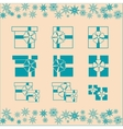 Christmas gifts set vector image