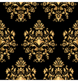 Luxury seamless golden pattern vector image