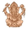 happy Ganesh Chaturthi hand drawn sketch vector image
