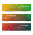 abstract triangle multicolored banners set vector image