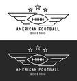 American football ball logo flying with wings vector image