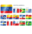 flags south america vector image