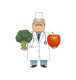 flat male doctor nurse in medical clothing vector image