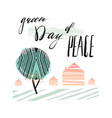international day of peace poster templates with vector image