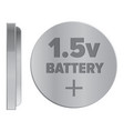 round silver 15v battery isolated vector image
