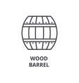 wood barrel line icon outline sign linear symbol vector image