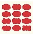 set red vintage labels and frames vector image vector image