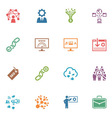 SEO and Internet Marketing Colored Icons - Set 2 vector image vector image
