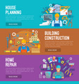 building industry banner set design vector image vector image