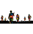 Paintball troops vector image