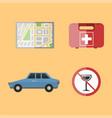 auto transport motorist icon symbol vehicle vector image vector image