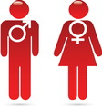 man woman vector image