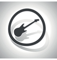 Guitar sign sticker curved vector image