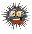 Thorny ball with crying face vector image