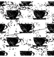 Cup pattern grunge monochrome vector image