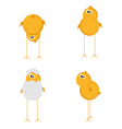 funny chicken set vector image