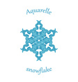 aquarelle snowflake hand drawn watercolor winter vector image