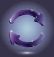 Arrow Glass pictogram refresh reload rotation loop vector image
