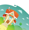 beautiful house vector image