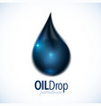 Black oil drop with text design vector image