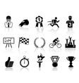 black sport icons set vector image