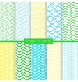Bright and simple yellow green and blue pattern vector image