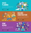 building industry banner set design vector image