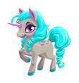Cute unicorn princess icon vector image