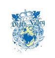 Death valley vector image