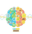 left and right brain bubbles concept vector image