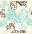 ornamental seamless wallpaper pattern vector image