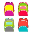 School backpacks collection isolated on white vector image