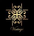 vintage golden logo vector image