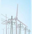 windmill and transmission vector image