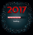Numbers 2017 and a loading bar vector image
