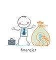 financier is a bag of money vector image vector image