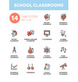 School classrooms - modern simple icons vector image