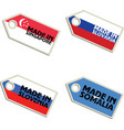 label Made in Singapore Slovakia Slovenia Somalia vector image