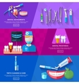 Flat Banner Dentist vector image