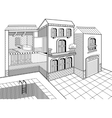 Country House Cross Section vector image
