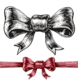 Gift bow vector image