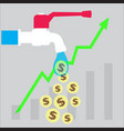 investment money growth icon vector image