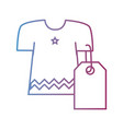 line clothes with tag to shopping new style vector image