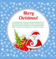 santa colored card vector image