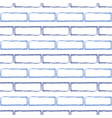 seamless pattern of stylized blue brick wall vector image