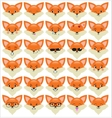 Set of funny fox emoticons vector image