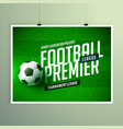 soccer football championship presentation flyer vector image