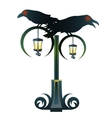 Street Gothic lantern with two black Raven vector image