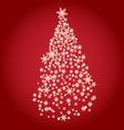 stylized Christmas tree on decorative background vector image