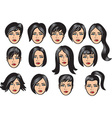 Woman hair collection vector image